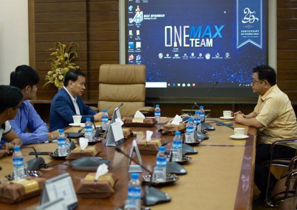 Professor Masayuki Sakakibara met Dr. Thaung Han, Group CEO of Max Myanmar Group