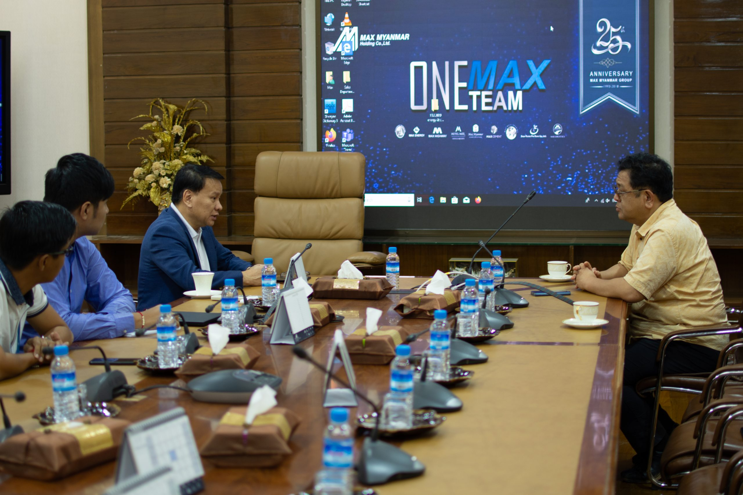 Meeting with CEO, Max Myanmar Group