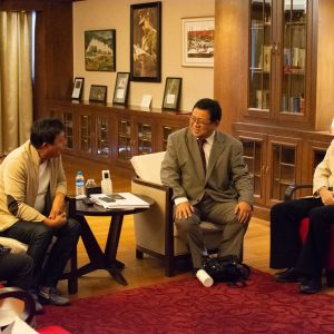 Professor Masayuki Sakakibara and Director of J-UNEP met Chairperson of Max Myanmar Group
