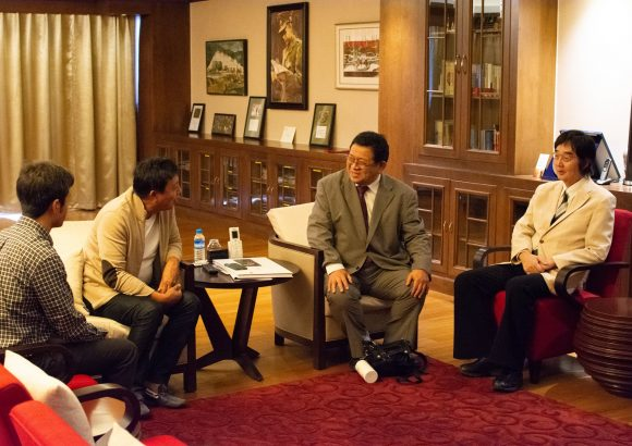 Professor Masayuki Sakakibara and Director of J-UNEP met Chairperson of Max Myanmar Group